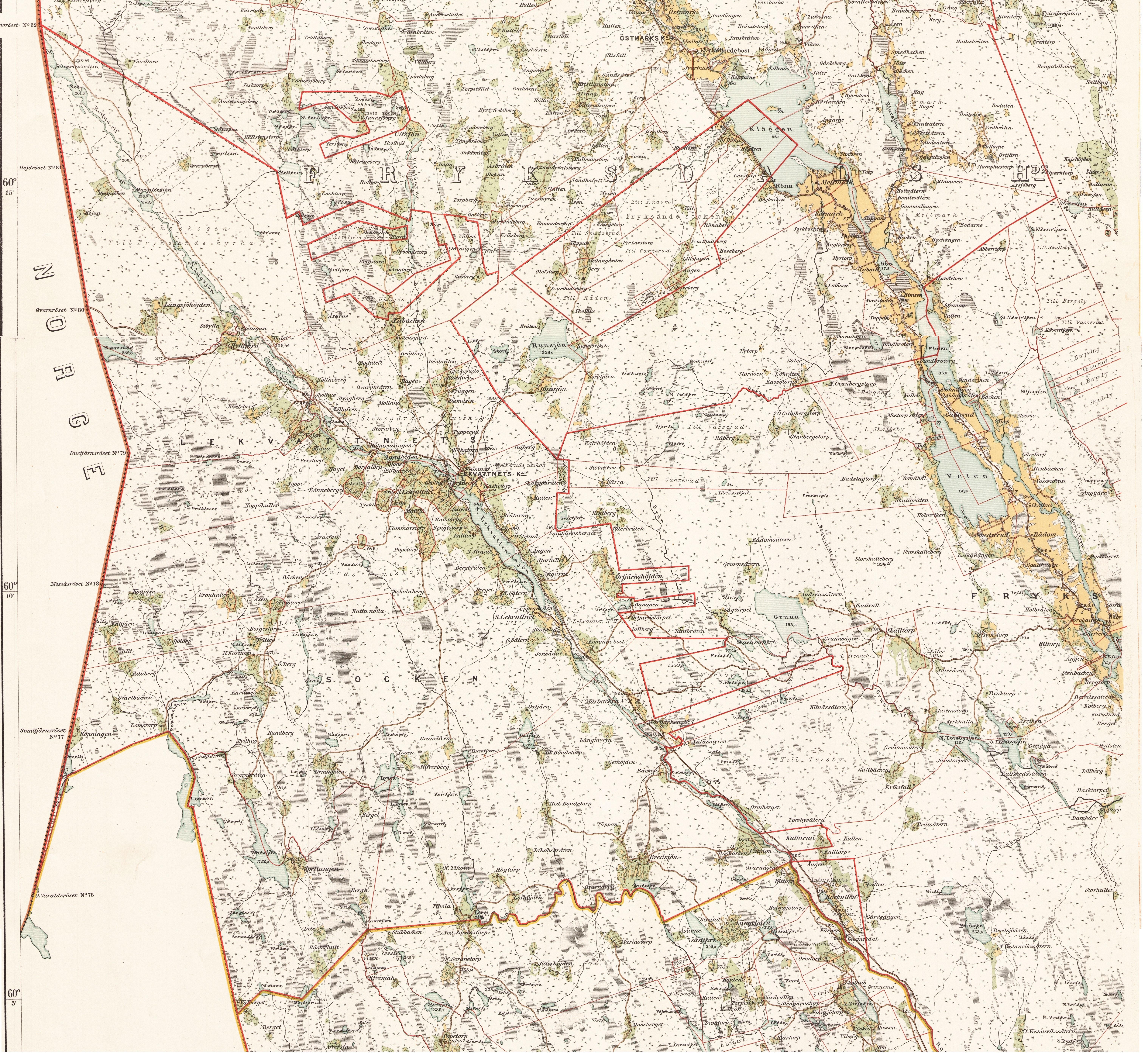 häradskarta 1883 över fryksdalen