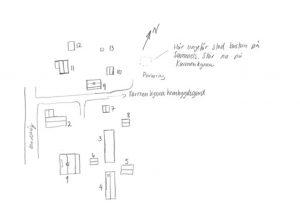 Skiss över Torpet Sammels, men Bastun som flyttades till Kynna